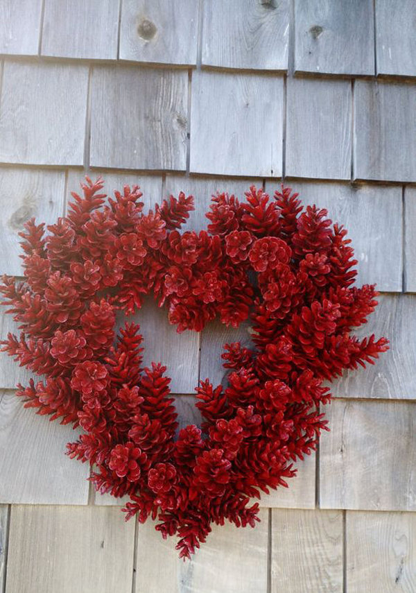Red Heart Valentine Wreath Ideas