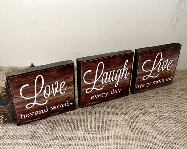Romantic Wooden Sign For Valentine Gift