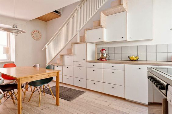 Perfect Under Stairs Kitchen Design. Small Kitchen Understairs With Smart Cabinet