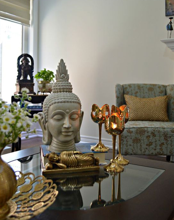 Spiritual Asian Living Room Decor