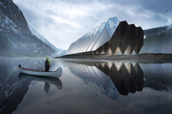 Artistic And Luxury Timber Pod Hotel With Diamond Shaped