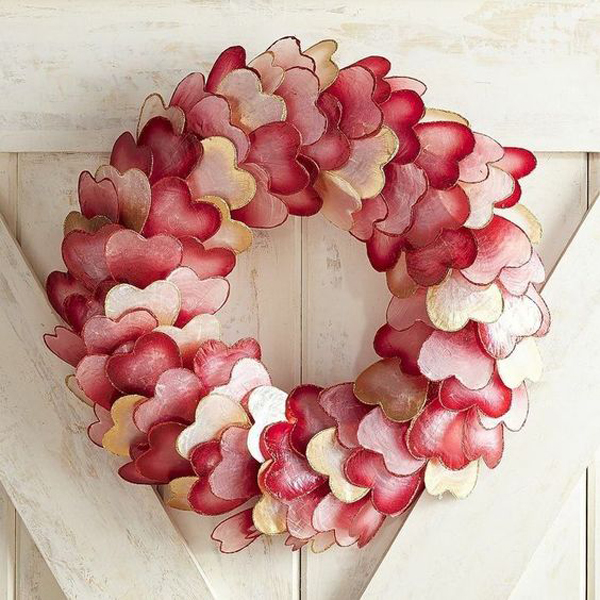 Valentine Day Ombre Wreath Ideas