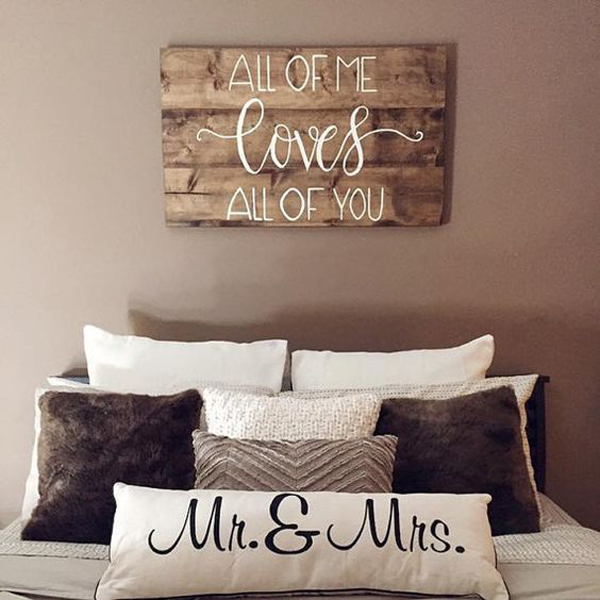 Wood Valentine Day Sign For Bedroom Wall Homemydesign
