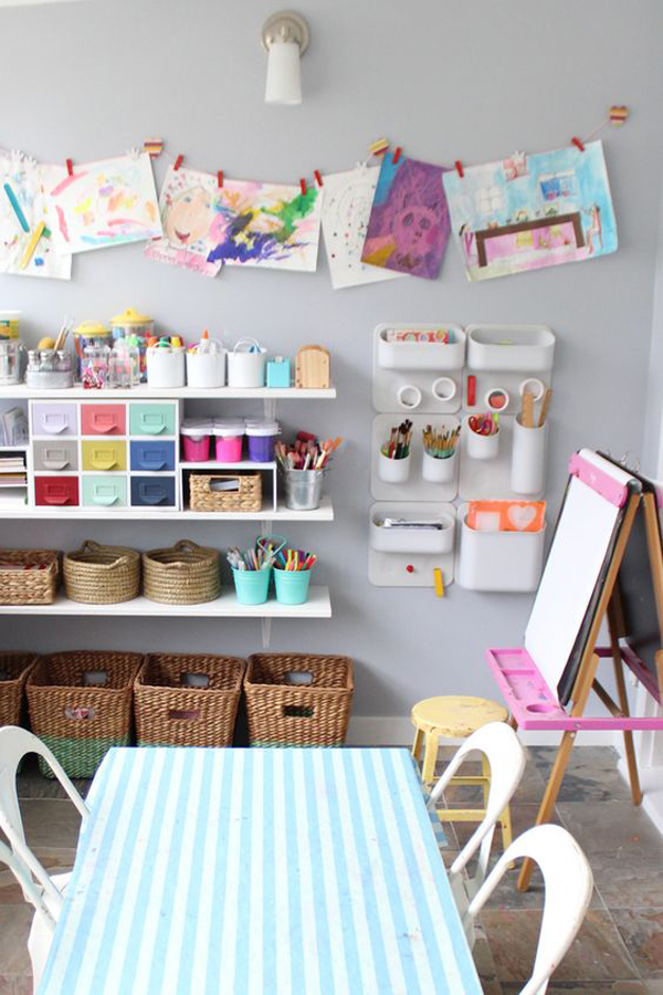 20 Creative Ways Build Arts And Crafts Rooms For Your Kids Home Design And Interior