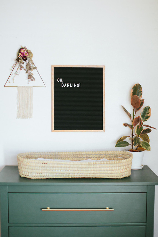 Bohemian Nursery Decor Ideas With Blackboard