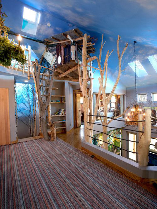 cool indoor kid treehouses ideas home design and interior rh homemydesign com