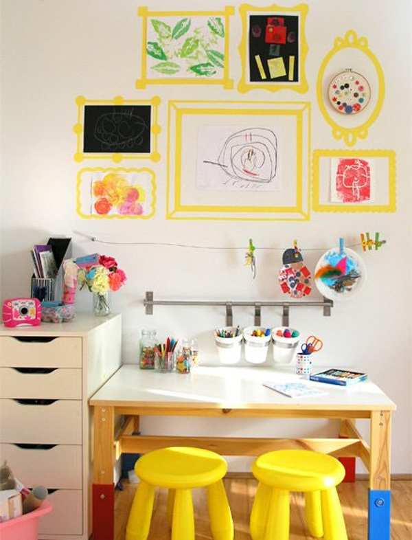 Creative Kids Room Ideas: 20 Creative Ways Build Arts And Crafts Rooms For Your Kids