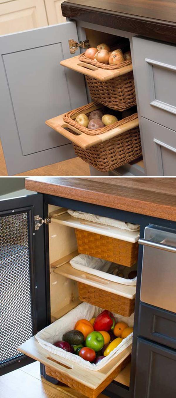 Diy Fresh Produce Storage With Basket