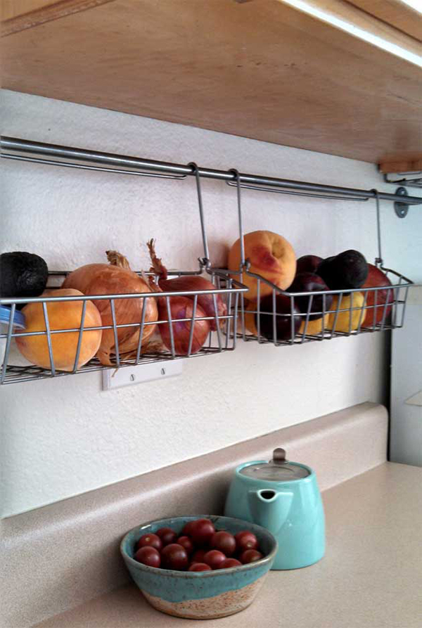 Diy Kitchen Produce Storage Rack