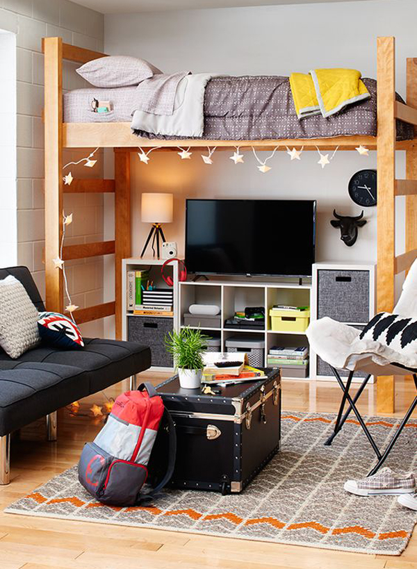 Design You Room: 20 Brilliant Dorm Room Organization For Everything You