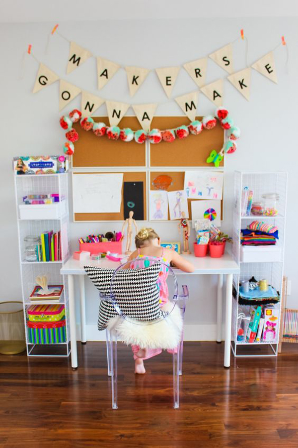 20 Creative Ways Build Arts And Crafts Rooms For Your Kids