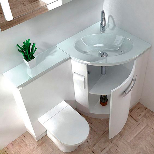 20 toilet and sink combos for tiny bathroom solutions - Bathroom combination vanity units ...
