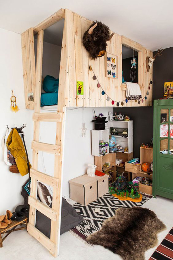 Wood Diy Indoor Treehouse Decor Ideas