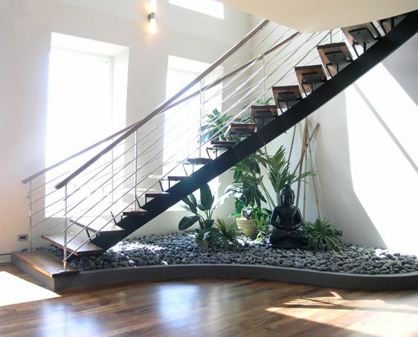 zen garden in under the stairs home design and interior rh homemydesign com