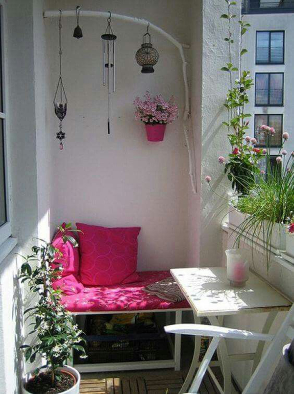 Cute Apartment Balcony: 35 Awesome Tiny Balcony Decor Ideas