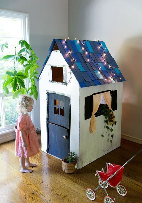20 Awesome Cardboard Playhouse Design For Kids Home