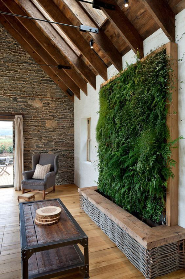 Eco Friendly Home Decor With Moss Wall