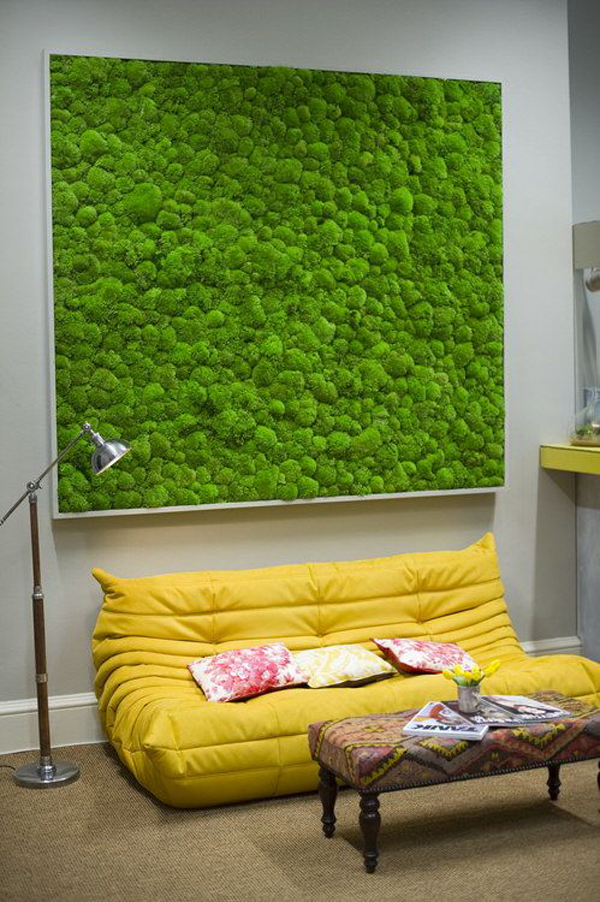 10 Ways To Decorate With Green Moss: 20 Fresh And Natural Moss Wall Art Decorations