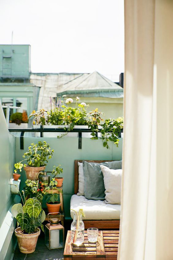 Small Balcony Decor With Outdoor Planters