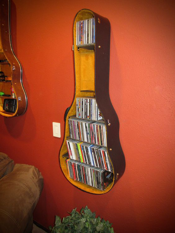 12 cool and unique racks from recycle old guitars home design and interior. Black Bedroom Furniture Sets. Home Design Ideas