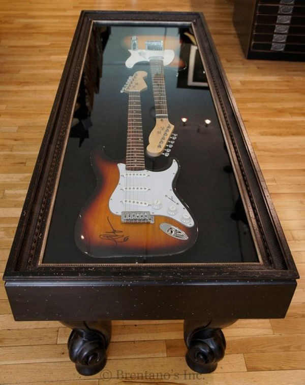 20 cool ways to display your guitar collections home design and interior. Black Bedroom Furniture Sets. Home Design Ideas