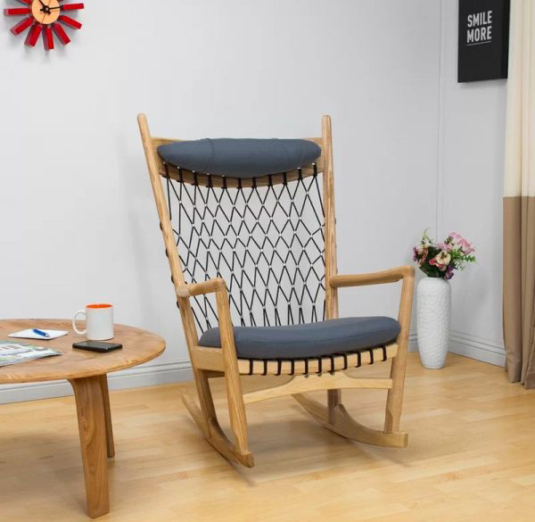 Woven Modern Rocking Chair With Coffee Table Home Design And Interior