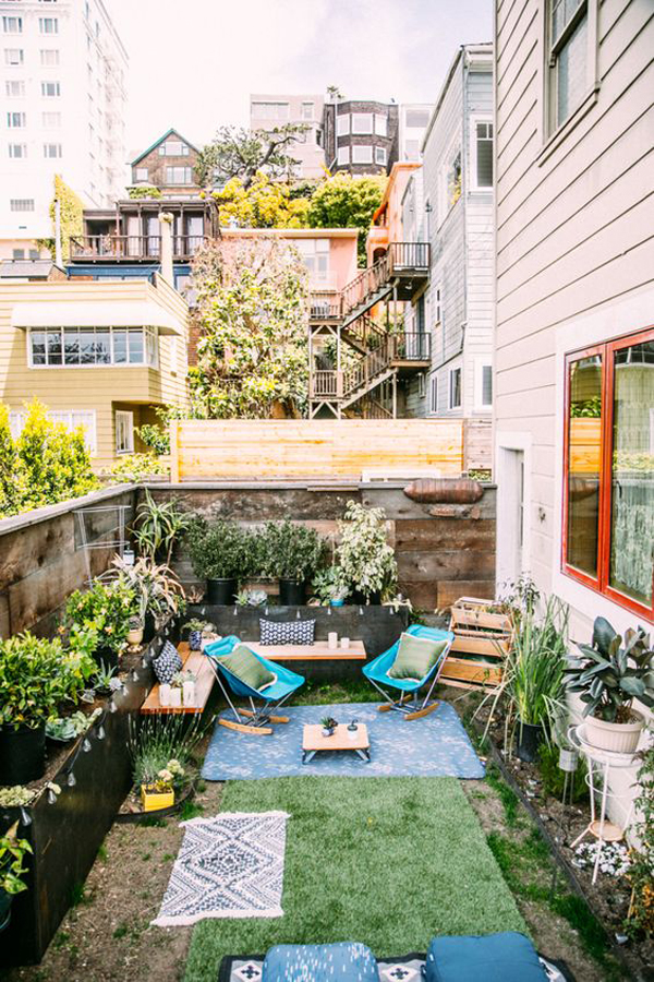 20 Small And Gorgeous Backyard Ideas In The City ... on Small Outdoor Patio Ideas id=47419