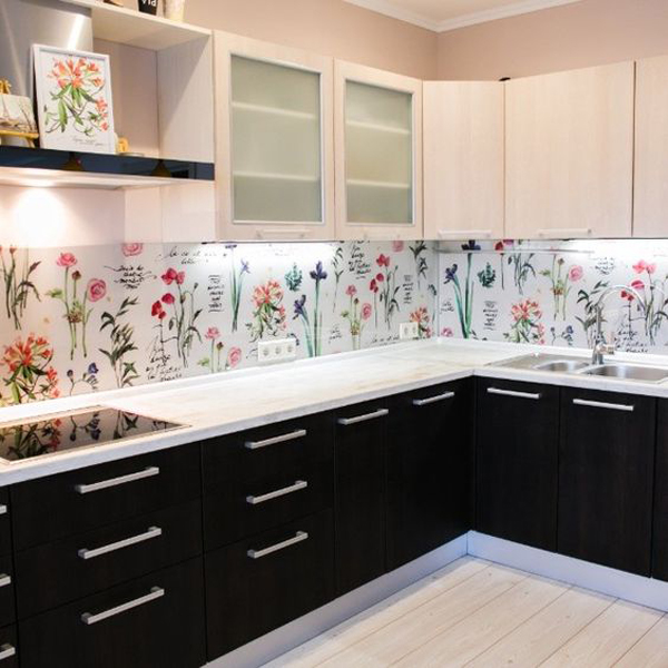 Tile Backsplash May Be Too Often We See But The Wallpaper Is A Unique Way Of Decorating Your Kitchen