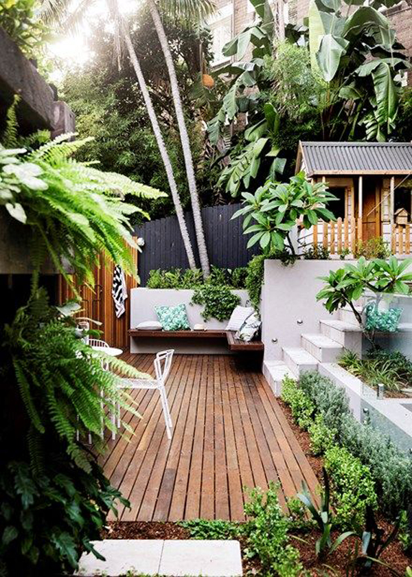 20 Urban Backyard Oasis With Tropical Decor Ideas ... on Tropical Patio Ideas id=16018