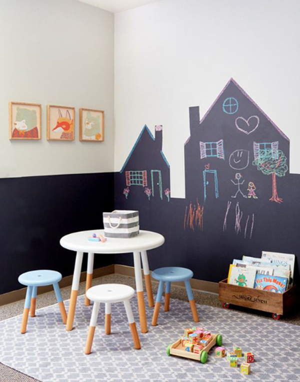 Superb Kids Playroom With Chalkboard Ideas