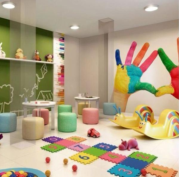 Rainbow Kids Playroom Decor Ideas