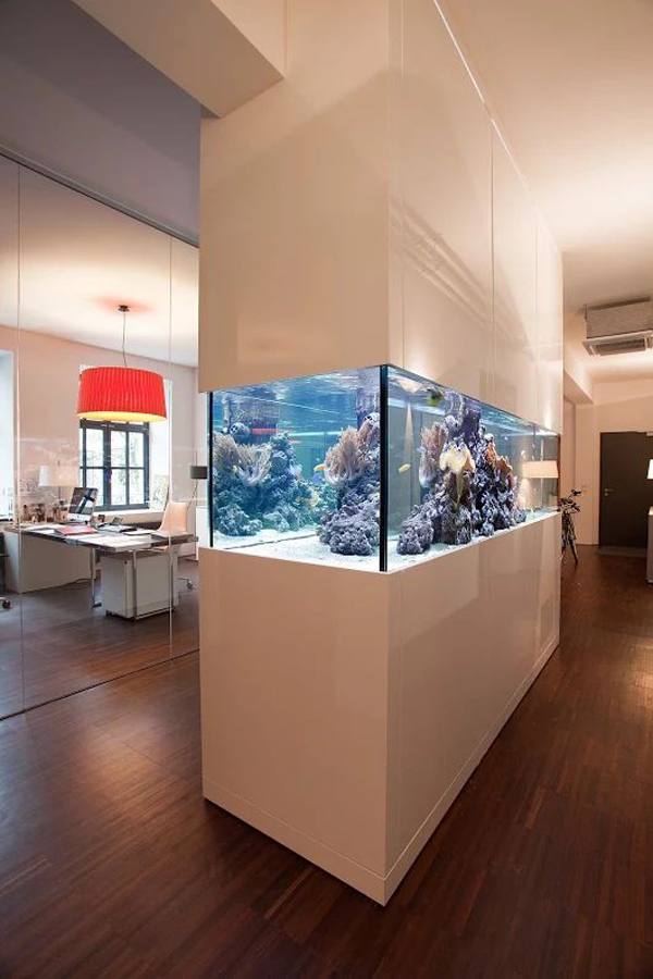 Aquarium Living Room Decor: 22 Spectacular Room Dividers With Modern Aquarium