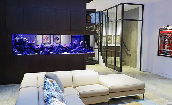 Aquarium Room Divider For Living Room And Kitchen