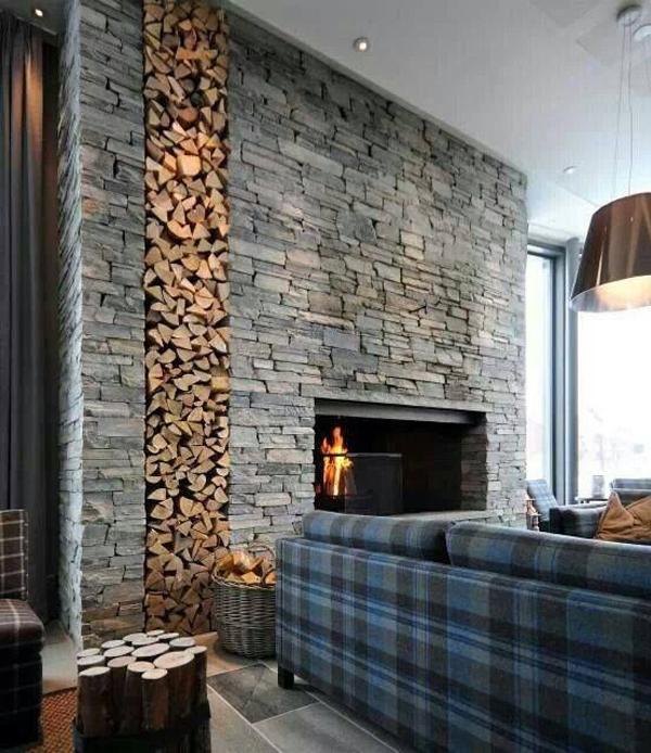 Art Logs And Brick Wall Designs