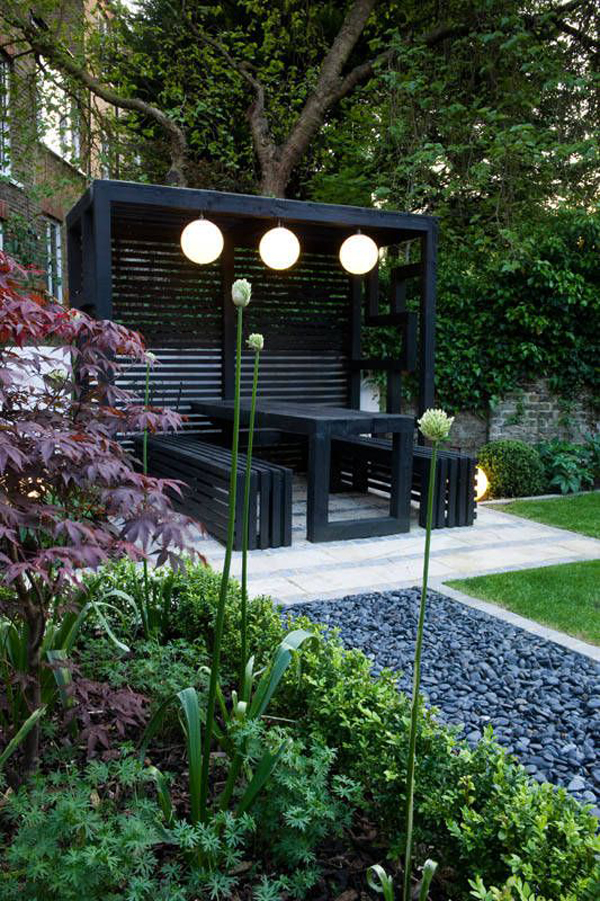 15 Modern Pergola Ideas To Decorate Your Outdoor ... on Black And White Patio Ideas id=58298