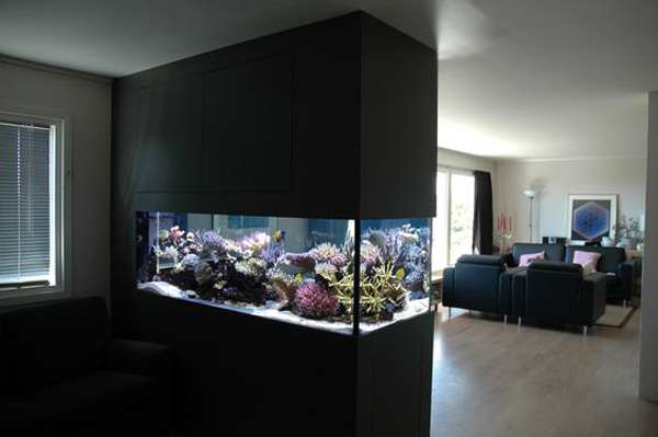 aquarium furniture design. Interior With Open Concept Has Many Advantages, Especially If Your Home Is Small. It Gives The Impression Of A Wider Without Barrier Wall And Allows You Aquarium Furniture Design