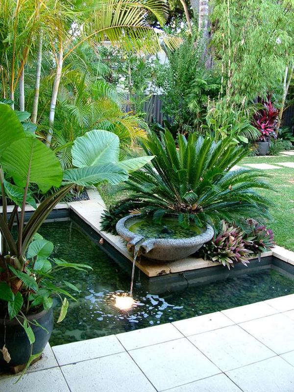 Easy Diy Tropical Garden Fountains In Courtyard