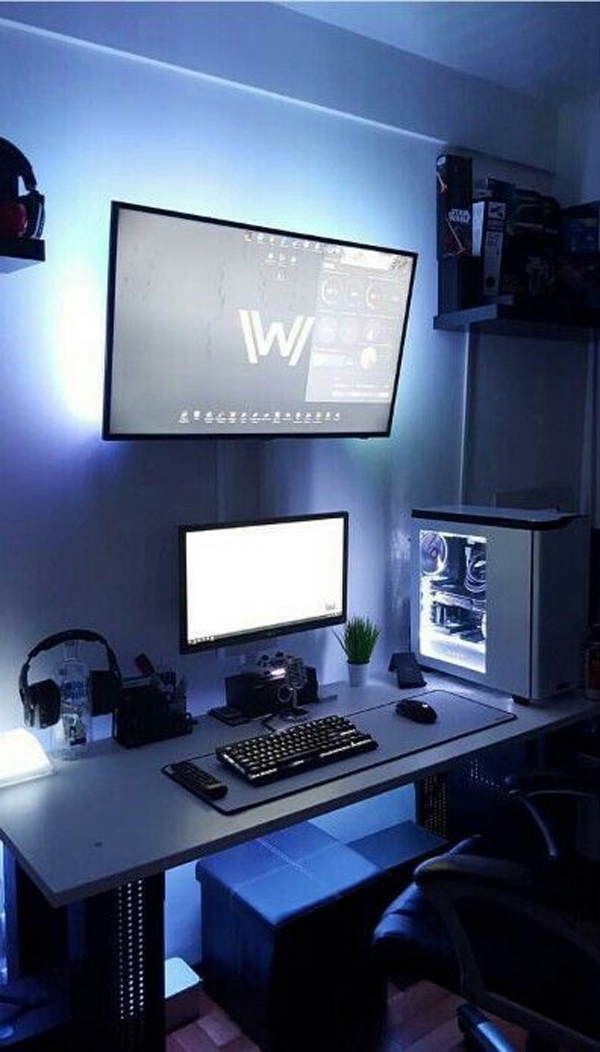 Coolest Room Designs: 25 Cool And Stylish Gaming Desks For Teenage Boys
