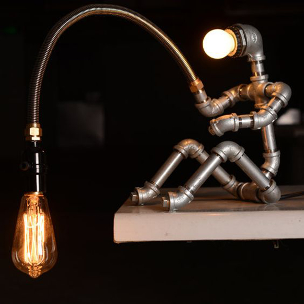 20 Creative Diy Art Stickman Lamps With Unique Shape