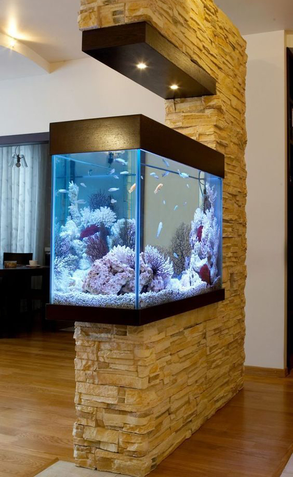22 Spectacular Room Dividers With Modern Aquarium Home