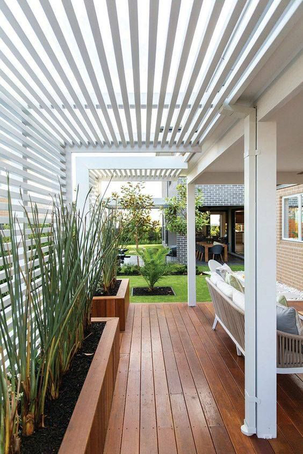 15 Modern Pergola Ideas To Decorate Your Outdoor ... on Modern Patio Design Ideas id=84187