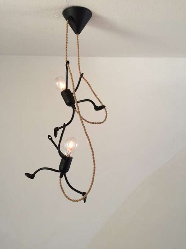 20 Creative Diy Art Stickman Lamps With Unique Shape