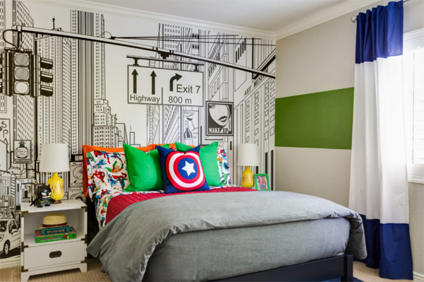 Adorable Kids Room With Superhero Themes | Home Design And Interior