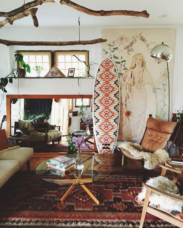 Bohemian-beach-living-room-decor