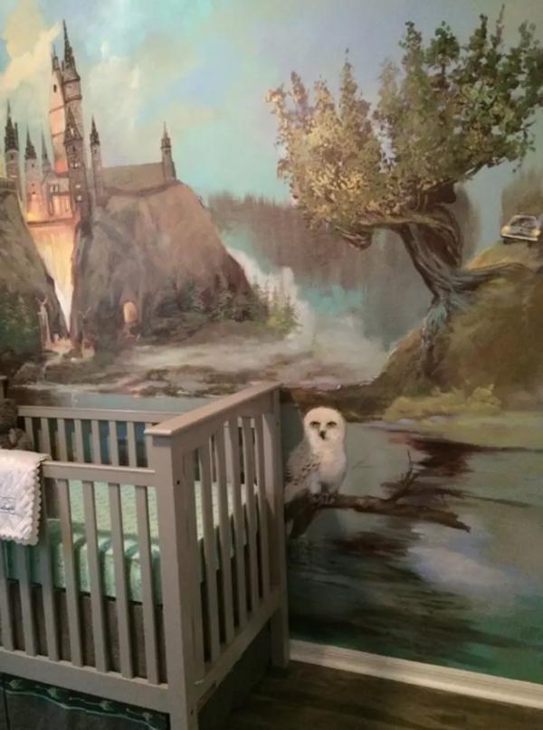 hogwarts wall mural decor
