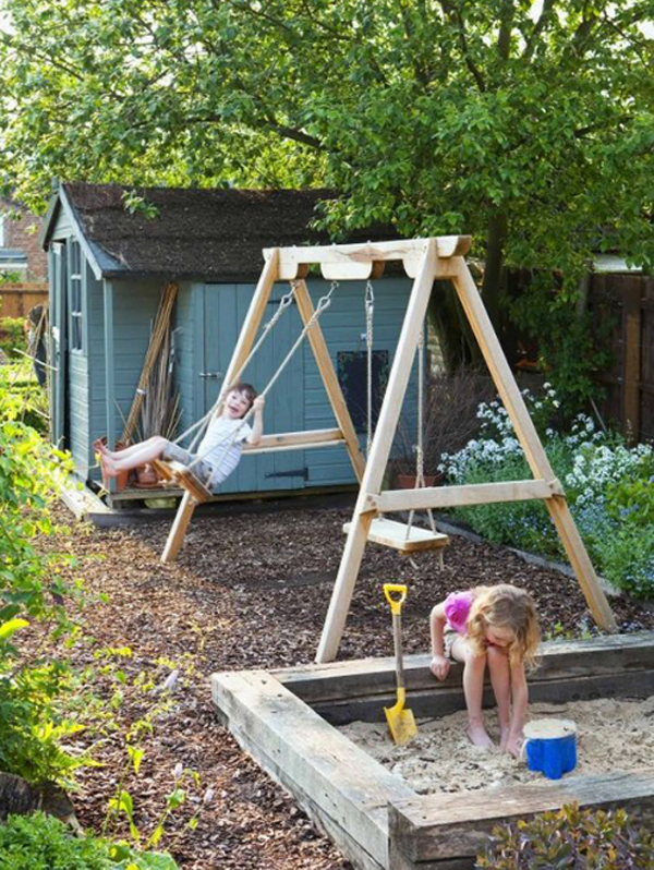 23 Awesome Kids Garden Ideas With Outdoor Play Areas