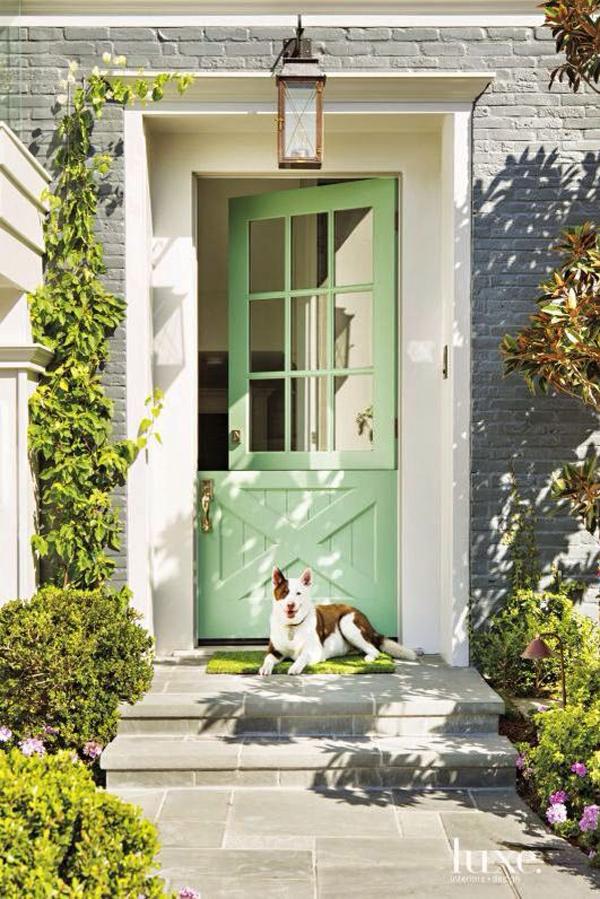 lovely green dutch door color