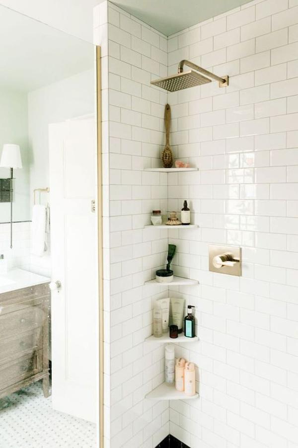 Tiny Bathroom Corner Shelf Ideas Home Design And Interior