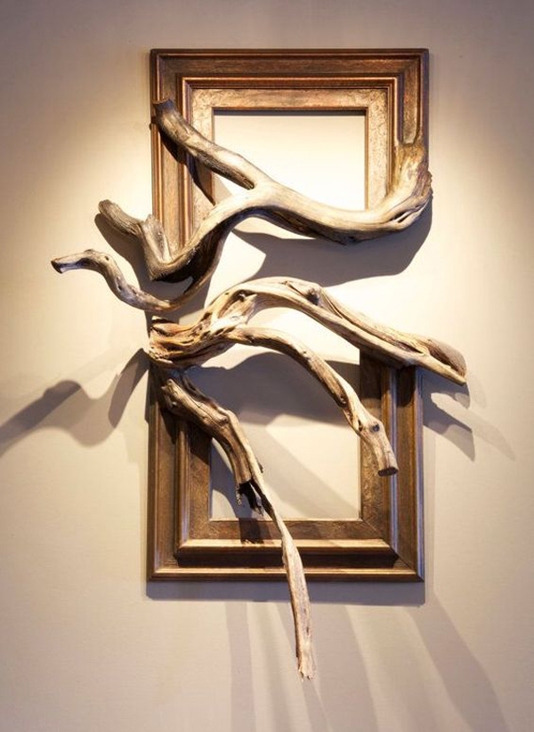 Awesome Wooden Root Art Frames Home Design And Interior