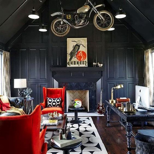 Coolest Male Living Room With Vintage Style